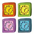 Clocks color set vector