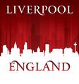 Liverpool england city skyline silhouette vector