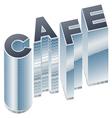 Set of buildings in word cafe vector