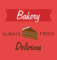 Bakery design over red background vector