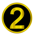 Number two button vector