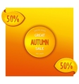 Great autumn sale vector