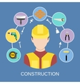 Engineer builder icons set vector