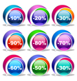 Colorful discount labels vector