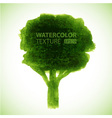 Hand drawn watercolor grunge tree vector