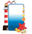 Sea postcard vector
