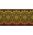 Decorative golden lace stripe pattern on black vector