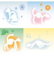 Four cats and four seasons vector