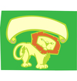 Lion banner vector