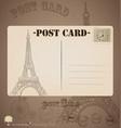 Vintage postcard designs vector