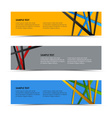 Abstract colored striped banners template vector
