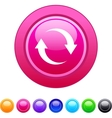 Refresh circle button vector
