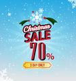 Christmas sale 70 percent typographic background vector