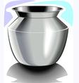 Steel pot vector