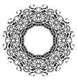 Black frame with ornamental border vector