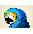 Blue parrot vector