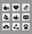 Web design buttons white set vector