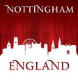 Nottingham england city skyline silhouette vector