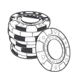 Stacks of gambling chips casino tokens vector