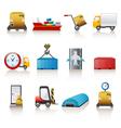 Logistics icons vector