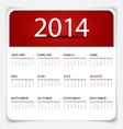 Simple 2014 year calendar vector