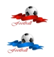 Soccer or football emblem vector