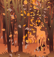 Stag in autumn forest vector