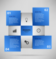 Abstract info graphic with blue squares vector