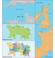 Jersey map vector