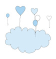 Birthday balloon frame vector