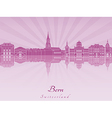 Bern skyline in purple radiant orchid vector