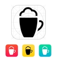 Foam coffee icon vector