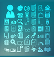 Office icons set retina vector