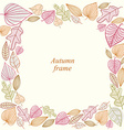 Autumn frame made of leaves vector