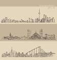 Shanghai istanbul san francisco big city vector