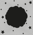 Comic book black cloud vector