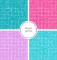 Seamless dot patterns set vector