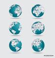 Modern globes vector