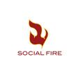 Social fire concept vector