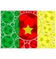 Cameroon soccer balls vector