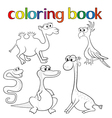 Set of animals for coloring book vector