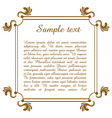Text template with floral frame vector