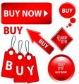 Red buy set vector