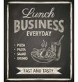 Business lunch poster vector