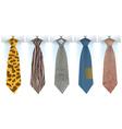 Fashionable mens ties vector