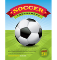 Soccer tournament design vector