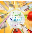Set of welcome back to school template eps 10 vector