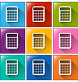 Buttons with calculators vector