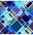 Blue geometric manuscript pattern vector