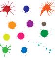 Blots color vector
